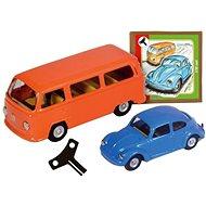 VW chrobák + minibus sada Kovap - Kovový model