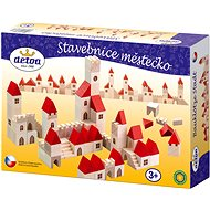 Stavebnica kocky mestečko - Drevená hračka