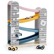 Drevená kĺzačka s autami - Drevená hračka