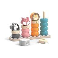 Drevené skladacie krúžky so zvieratkami - Drevená hračka