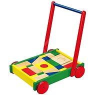 Wooden Walker with Cubes - Baby Walker