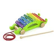Drevený ťahací xylofón – krokodíl