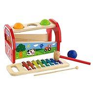 Drevená zatĺkačka a xylofón - Drevená hračka
