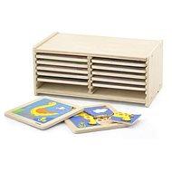 Sada drevených puzzle - 12 ks - Drevená hračka