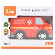 Drevené hasičské auto - Drevená hračka