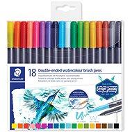 Staedtler Marsgraphic Duo Brushes - Set of 18 - Felt Tip Pens