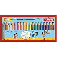 STABILO Woody 18 farieb, okrúhle, maxi, STABILO - Pastelky