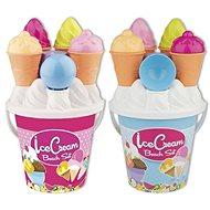 Androni Sada na piesok so zmrzlinou – stredná, modrá - Sada do piesku