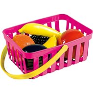 Androni Nákupný košík s ovocím - 6 kusov, ružový