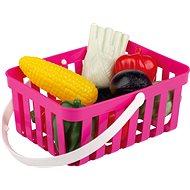 Androni Nákupný košík so zeleninou - 10 kusov, ružový - Set