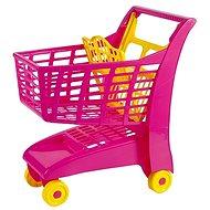 Androni Nákupný vozík so sedadlom – ružový - Vozík