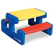 Little Tikes Veľký piknikový stolík – Primary - Detský stôl