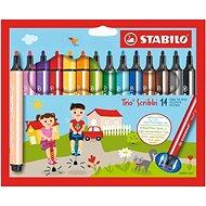 Stabilo Trio Scribbi 14 farieb - Fixky