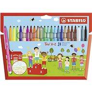 Stabilo Trio A-Z 24 farieb - Fixky