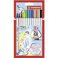 Stabilo Pen 68 brush 12 farieb - Fixky