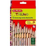 Herlitz Trilino 12 farieb trojhranné - Pastelky