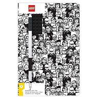 LEGO Stationery Zápisník A5 s čiernym perom – Minifigure Brick - Zápisník