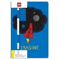 LEGO Stationery Zápisník A5 s modrým perom – Imagine - Zápisník