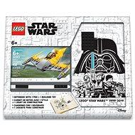 LEGO Stationery Star Wars Naboo Starfighter – zápisník s perom a stavebnicou - Zápisník