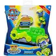 Paw Patrol Svietiace vozidlá hrdinov so zvukmi Rocky - Herná sada