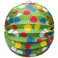 Lampión okrúhly, priemer 24 cm, párty, zelený - Lampión