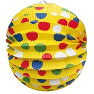 Lampión okrúhly, priemer 24 cm, párty, žltý - Lampión