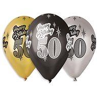 "Nafukovacie balóniky, 30 cm, Happy Birthday ""50"", mix farieb, 5 ks - Balóniky"