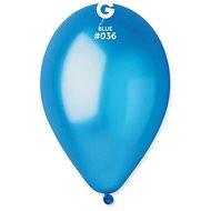 Nafukovacie balóniky, 30 cm, metalické modré, 10 ks - Balóniky