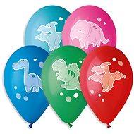 Nafukovacie balóniky, 30 cm, veselé dinosaury, mix farieb, 5 ks - Balóniky