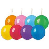 Nafukovacie balóniky, 45 cm, s gumičkou, mix farieb, 4 ks - Balóniky