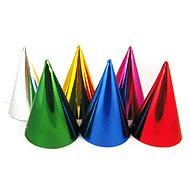 Párty papierové čiapočky, metalické, mix farieb, 6 ks - Párty doplnky