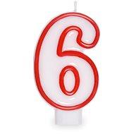 """Sviečka narodeninová, 7,5 cm, číslica """"6"""", biela - Sviečka"""