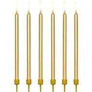 Sviečky tortové, 12,5 cm, zlaté, 12 ks - Sviečka