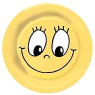 Taniere papierové, O 23 cm, Smiley, 10 ks - Jednorazový riad