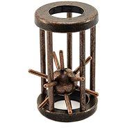 Hlavolam ježko kovový hnedý - Hlavolam