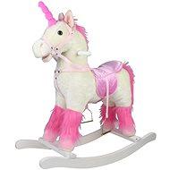 Kôň hojdací biely plyš - Húpadlo