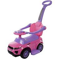 Odrážadlo Sport Car s hudbou a vodiacou tyčou ružová - Odrážadlo