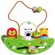Drevená loďka labyrint so zvieratkami sun baby - Drevená hračka