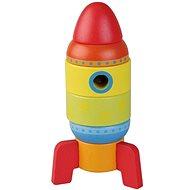 Drevená skladačka raketa 6 častí sun baby AB4477, E01.003.1.1 - Drevená hračka