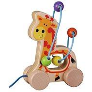 Drevená ťahacia žirafa s labyrintom sun baby AB3335, E01.006.1.1 - Drevená hračka