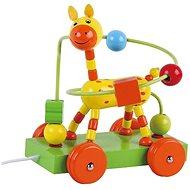 Drevená ťahacia žirafa s labyrintom sun baby AB3352, E01.008.1.1 - Drevená hračka