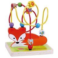 Drevený labyrint líška sun baby - Drevená hračka