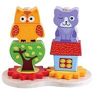 Drevená skládanka 10 dielikov - Drevená hračka