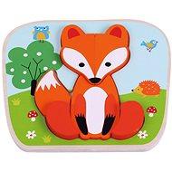 Dřevěné puzzle liška sun baby AB6357, E01.021.1.1 - Drevené Puzzle