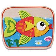 Dřevěné puzzle rybička sun baby AB6289, E01.022.1.1 - Drevené Puzzle