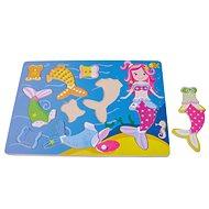 Dřevěné puzzle mořská panna, E01.039.1.1 - Drevené Puzzle