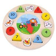 Dřevěné hodiny puzzle, E01.033.1.1 - Drevené Puzzle
