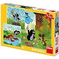 Krtko A Nohavičky 3X55 Puzzle Nové - Puzzle