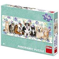 Psi a mačky 150 Panoramic Puzzle Nové - Puzzle