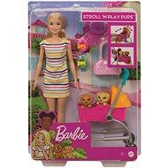 Barbie bábika na vychádzce s psíkom - Bábika